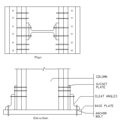 Gusseted Column Base
