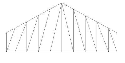 Pratt truss (spans upto 6M to 10M)