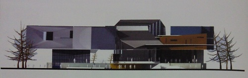 Redesigned Elevation of the Convention Centre