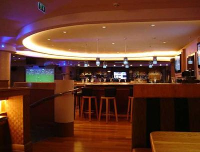 Concealed lighting in a Bar