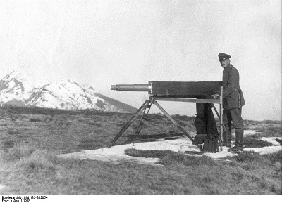 German Soldier carrying out Land Survey to determine the natural features and determine areas of strategic importance