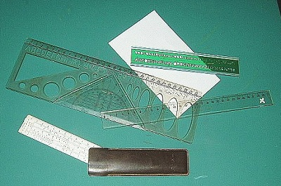 Rulers bearing a certain specific scale for measurement