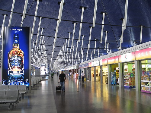 Interior of Shanghai Pudong International Airport