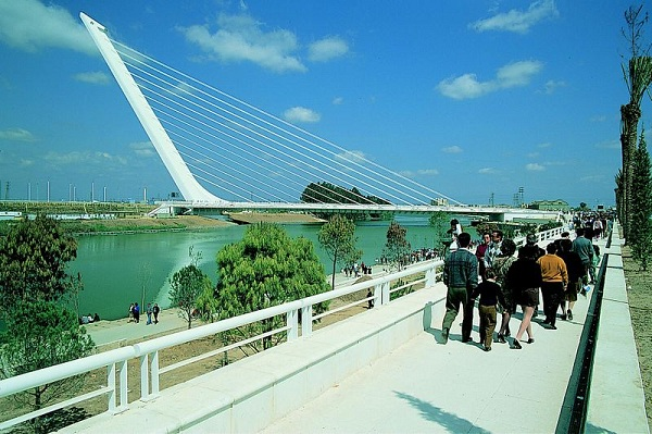 Alamillo Bridge, Spain | Designed by Santiago Calatrava