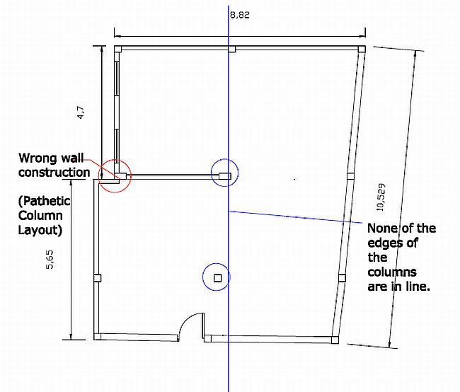 Column layout and Exterior wall Construction