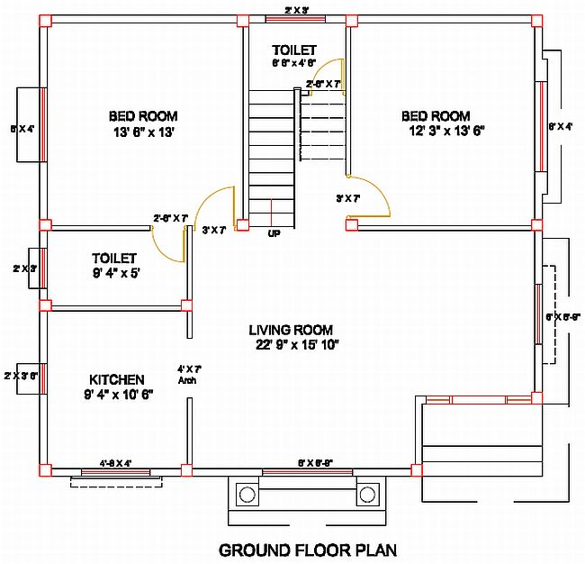 Column Layout For A Residence Civil Engineering Civil