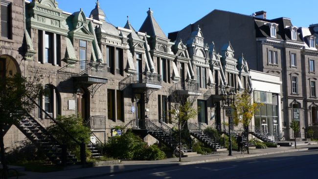 Row houses in Montreal, Canada